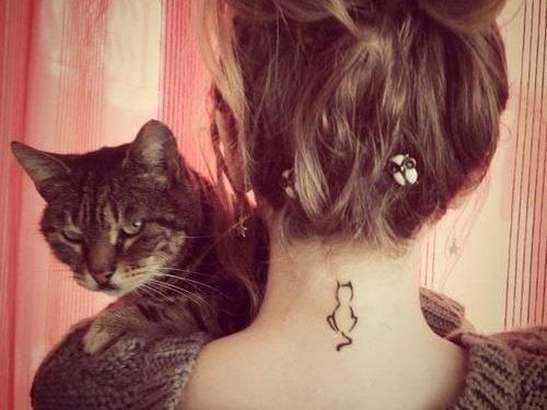Hình Xăm con mèo cho những EVA nhẹ nhàng thích nuôi mèo