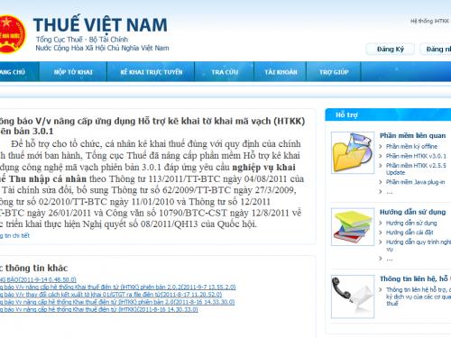 kekhaithue.gdt.gov.vn – Hướng dẫn Kê Khai thuế qua mạng đơn giản