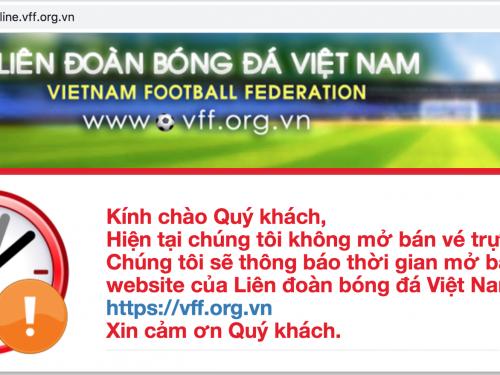 Hướng dẫn cách mua vé online xem trận Việt Nam – Philippines đá bán kết AFF Cup 2018