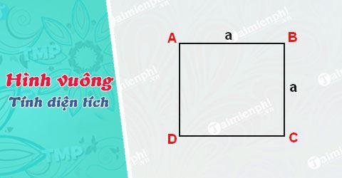 Cách tính diện tích hình vuông và ví dụ cụ thể để các em dễ hình dung