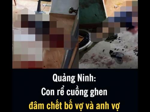 Quảng Ninh: Con rể cuồng ghen vác dao bầu đâm chết bố vợ và anh vợ