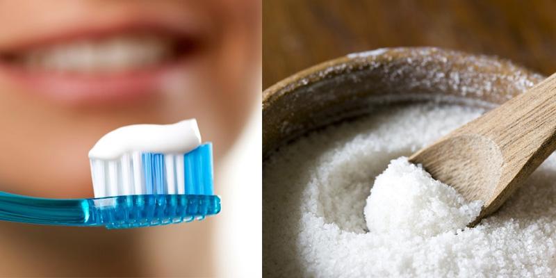 Kem đánh răng và muối giúp tiêu diệt vi khuẩn gây mụn1