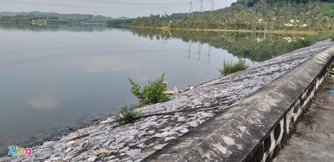 Khu vực đập nước cháu gái 11 tuổi bị chết đuối1