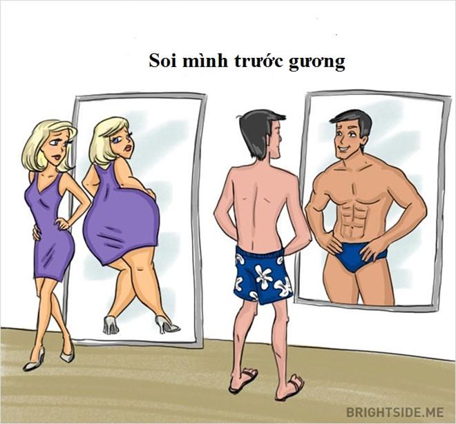 Giữa đàn ông và phụ nữ có nhiều điểm khác nhau thú vị1
