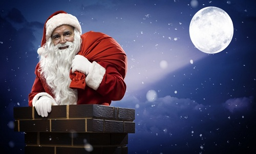 Vào đêm Giáng Sinh ông già Noel sẽ chui qua ống khói để tặng quà1