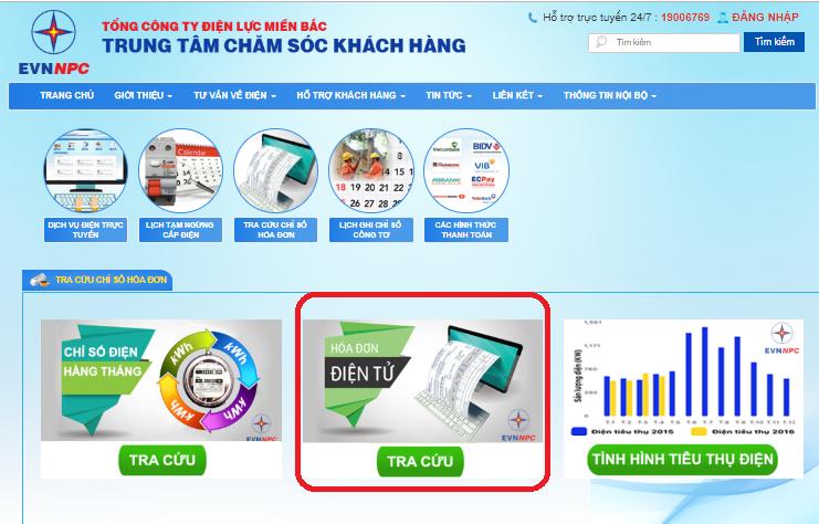 Bạn có thể tra cứu tiền điện qua các trang web chăm sóc khách hàng1