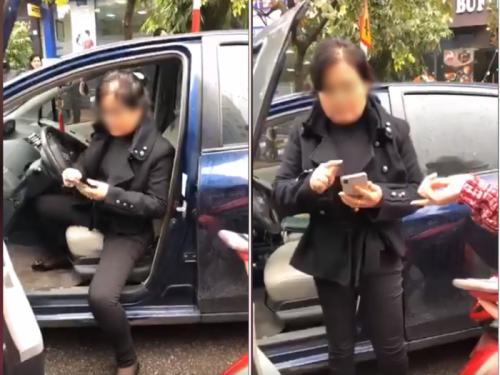 Phẫn nộ nữ tài xế ô tô đâm trúng người không xin lỗi, tỏ thái độ thách thức