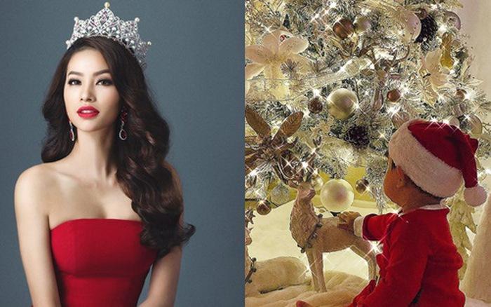 Hoa hậu Phạm Hương bất ngờ khoe ảnh con trai đúng dịp Giáng Sinh1