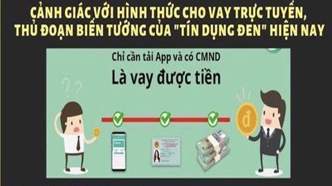 Cần hết sức cảnh giác với các hình thực cho vay tiền qua ứng dụng điện thoại1