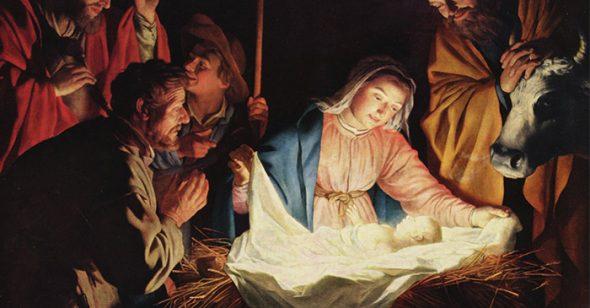 Hình ảnh khắc họa lại khoảnh khắc chúa Jesus ra đời1