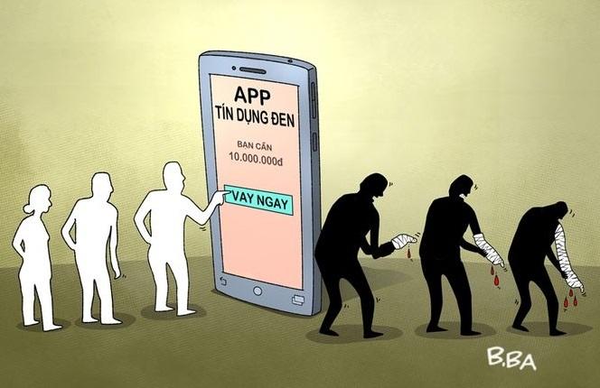Các quảng cáo trên các app vay tiền chỉ là chiêu trò của những kẻ cho vay nặng lãi1