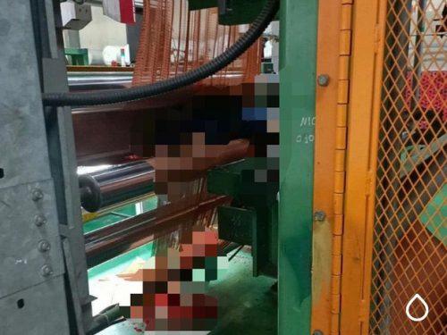 Nam công nhân bị cuốn vào máy làm sợi lốp ôtô tử vong thương tâm