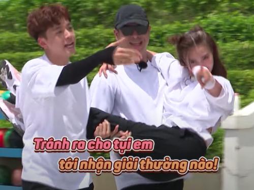 """Running Man Vietnam mùa 2: Lan Ngọc xứng danh """"át chủ bài"""", được Ngô Kiến Huy và Trương Thế Vinh """"bế bổng"""" ăn mừng chiến thắng"""
